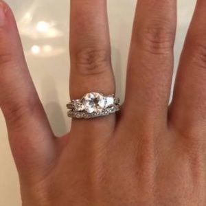 Jewelry - Sterling Silver White Topaz Ring Set